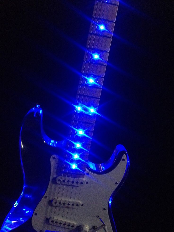 details about custom acrylic clear electric guitar with blue led light see thru glass strat. Black Bedroom Furniture Sets. Home Design Ideas