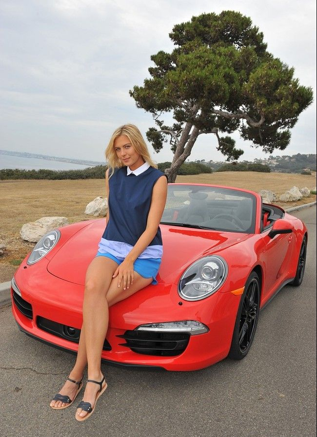 Maria Sharapova and Porsche | Portugal Cars | Portugal Car Hire | Car Rental | Lisbon | Faro - www.portugal-cars.com