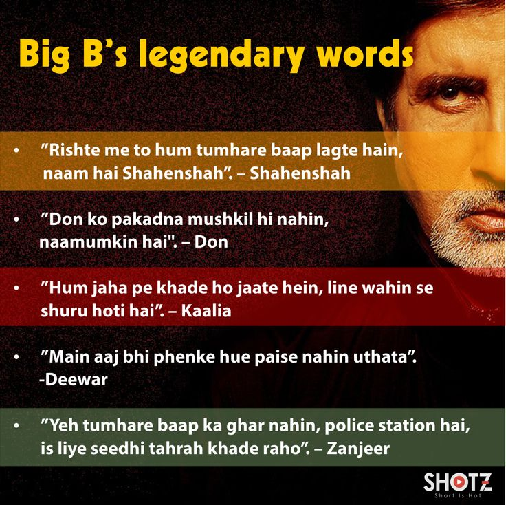 Amitabh Bachchan and his famous dialogues