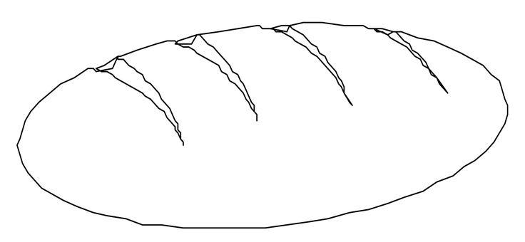 Ausmalbilder Brot 01   Ausmalen, Ausmalbilder, Malvorlagen