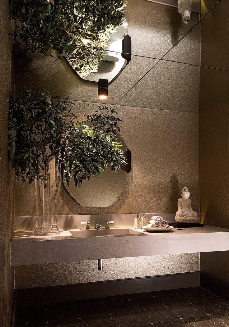 Detalles orgánicos en el baño diseñado por la mexicana Claudia Grajales