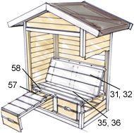 "toom Kreativwerkstatt garden house bench ""Gartenlust"