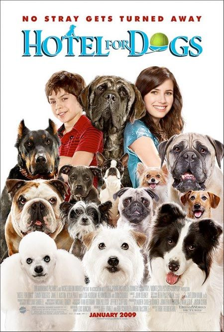 Hotel for Dogs- So much to love about this movie - the contraptions the kids built, dog personalities, a good cause, kids standing up for what they believe in, humor, love, compassion.