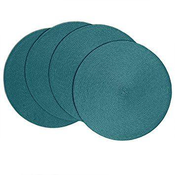 "Amazon.com: Benson Mills Victorian Round Placemats (Set of 4), 15"", Leaf: Home & Kitchen"