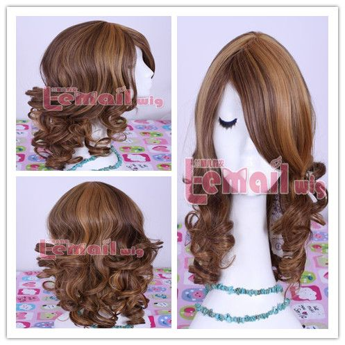 45cm monster high clawdeen wolf mix golden/bwown cosplay wig ,shop at Costwe.com