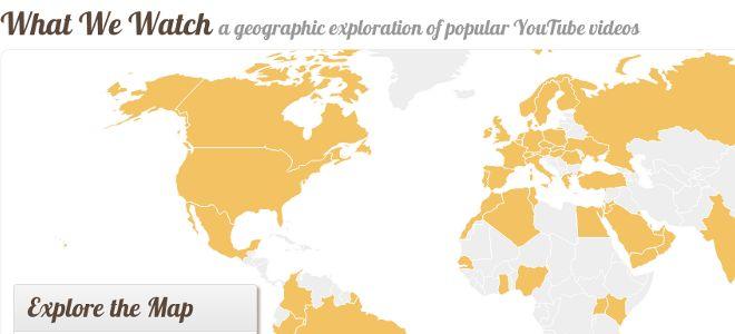 Διαδραστικός χάρτης δείχνει τι βλέπουν οι χρήστες του Youtube σε όλο τον κόσμο -  Ενα πολύ ενδιαφέρον προτζεκτ παρουσίασε το Κέντρο Αστικών Μέσων του ΜΙΤ, δημιουργώντας έναν εντυπωσιακό διαδραστικό χάρτη που παρουσιάζει τις προτιμήσεις των χρηστών του Υoutube σε όλο τ