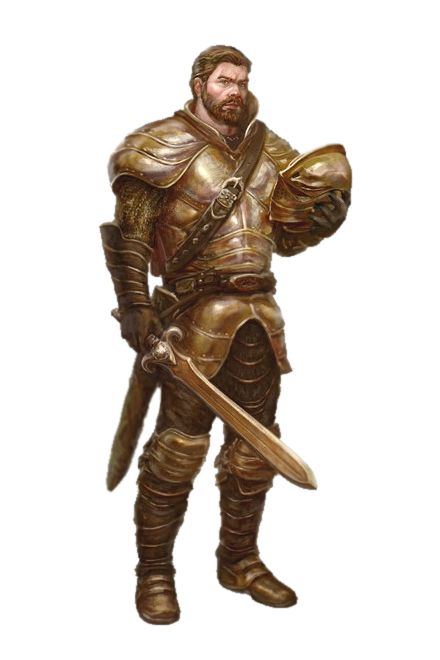Male Human Fighter Warrior - Pathfinder PFRPG DND D&D 3.5 5th ed d20 fantasy