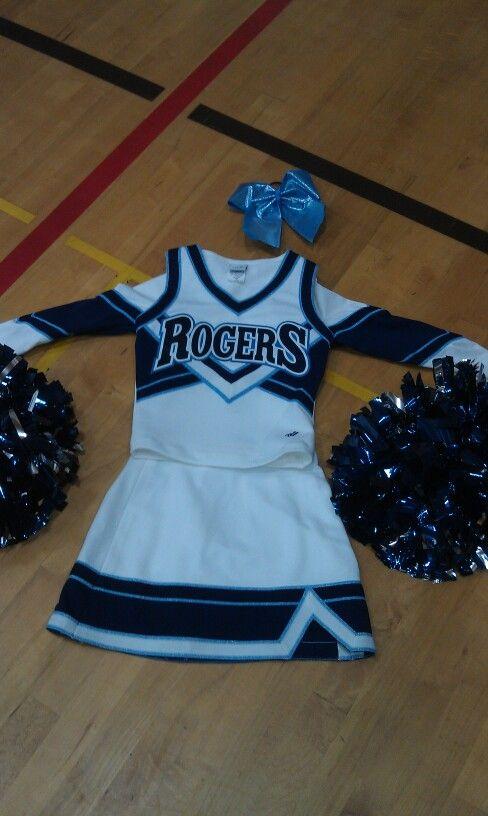 2012 Rogers high school cheer team uniform #RHSCHEER #RAMPRIDE