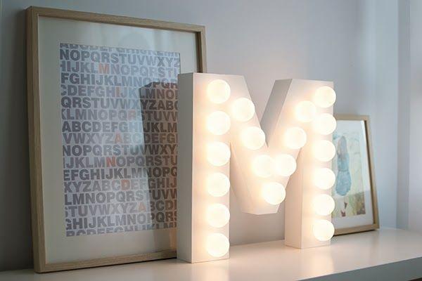 La chica de la casa de caramelo: DIY: Letra con bombillas