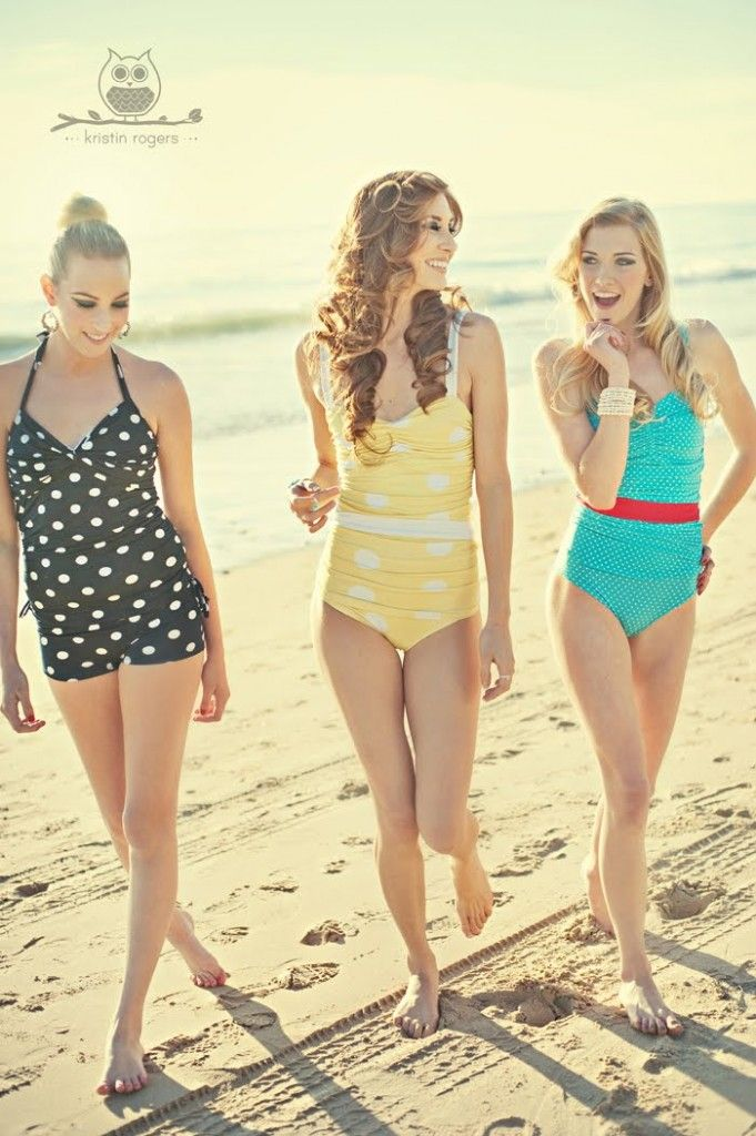 Rey swimwear... All suits are Audrey Hepburn inspired. Modest and cute!