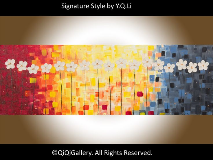 36 Art Painting Original Acrylic Impasto Painting by QiQiGallery, $185.00