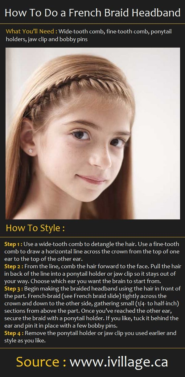 chrome hearts first facial How To Do a French Braid Headband  Health and Beauty