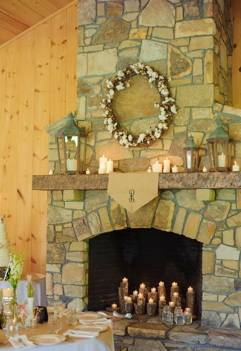 a fireplace is a cool thing for any wedding and you can use it in