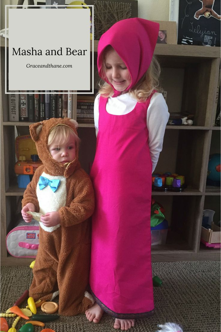 DIY Masha Costume-- A simple tutorial to transform your little one into Masha from Masha and the Bear| graceandthane.com