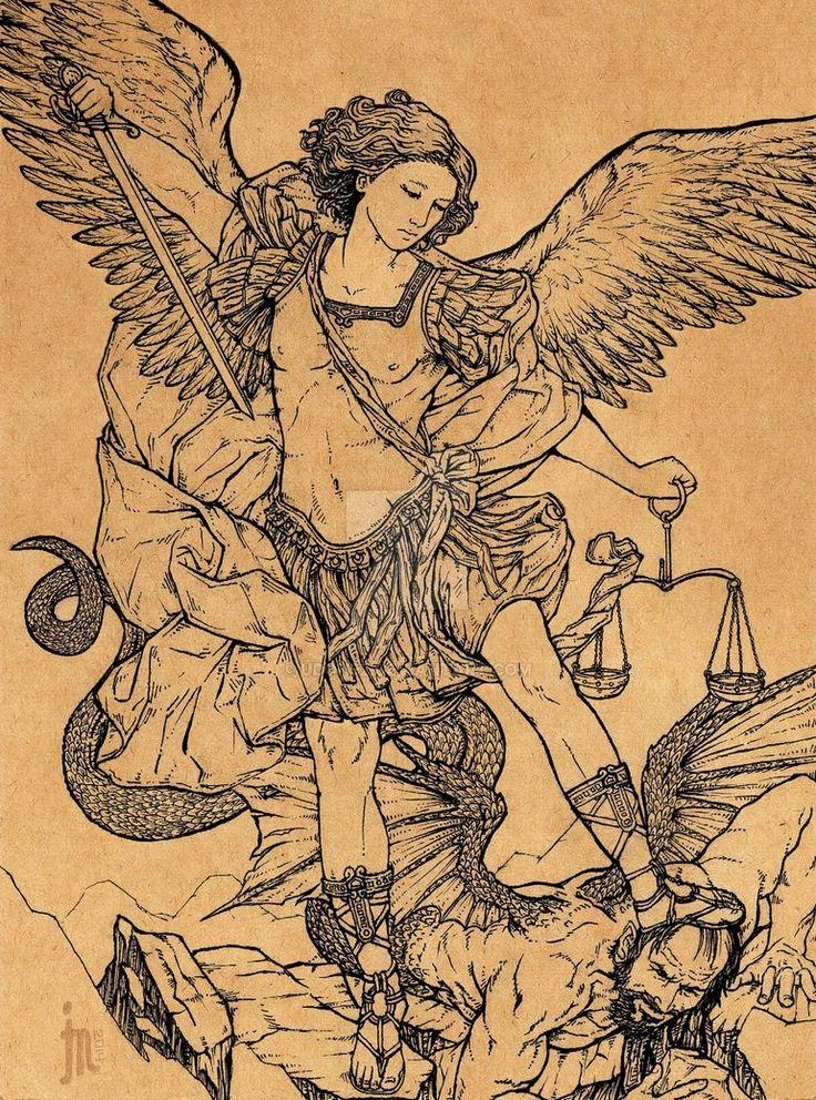 archangel michael tattoo - 736×992