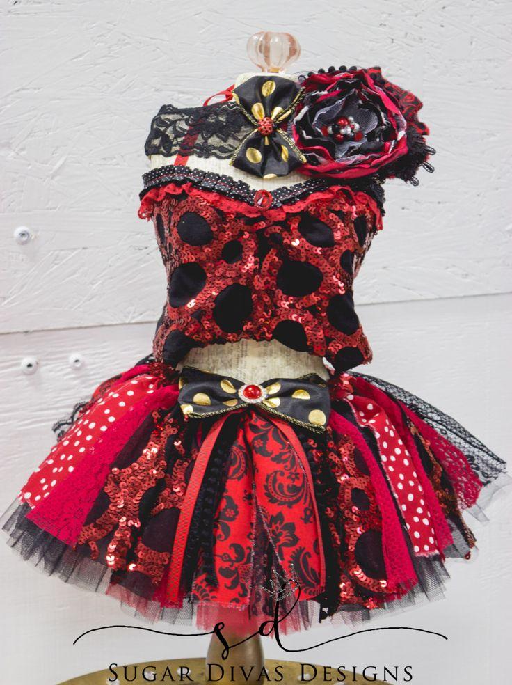Lil Ladybug tutu top set, red black tutu set. ladybug polka dot tutu, ladybug 1st birthday party theme, halloween tutu dress red tutu outfit by SugarDivasDesigns on Etsy https://www.etsy.com/listing/451692962/lil-ladybug-tutu-top-set-red-black-tutu