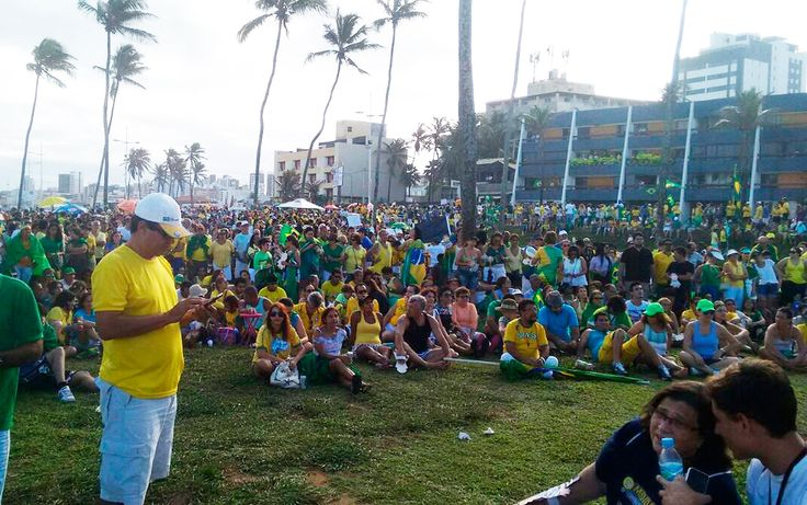 Manifestação a favor do impeachment em Salvador