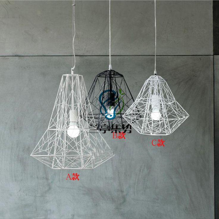 卸ダイヤモンド現代の簡単なリビングルームには、Aliexpress.com上ライト&照明から照明錬鉄鳥かごペンダントライト【送料無料】 - inPendantライトランプ