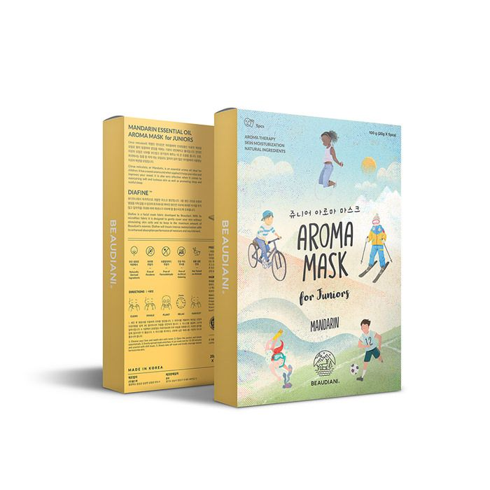 Junior Aroma mask pack #aroma #mandarin #cosmetic #beauty #gd #beaudiani #desing #child
