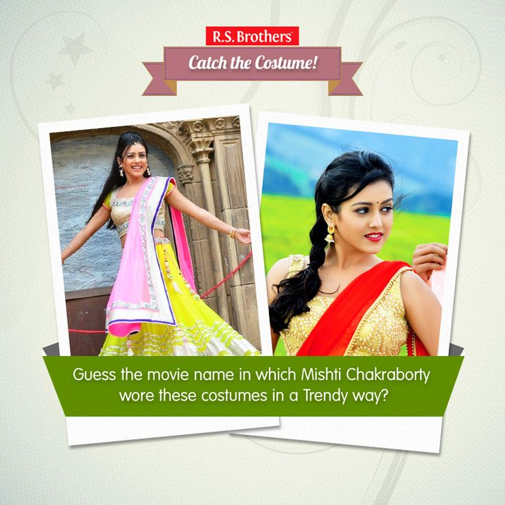 "#Catch the costume Guess the movie name? Which Gorgeous actress ""MishtiChakraborty"" wore these #Saree & #LehangaCholi in a Trendy & Stylish way. Like & Comment your answer (Image copyrights belong to their respective owners"