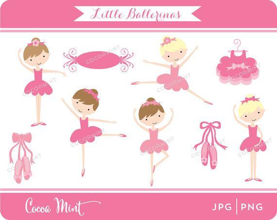 Little Ballerinas Clip Art (EVIE)