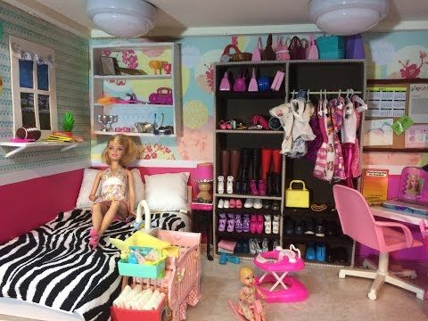 Tour Casa de Barbie  (Lauratrev1) Barbie House Tour - YouTube