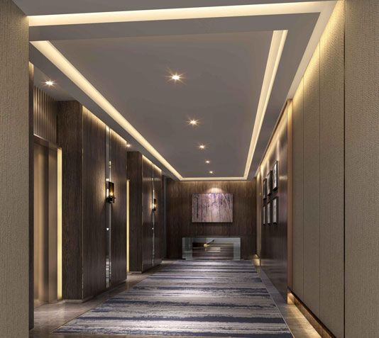 Sterling towers dubai corridors pinterest towers and for Lobby ceiling design