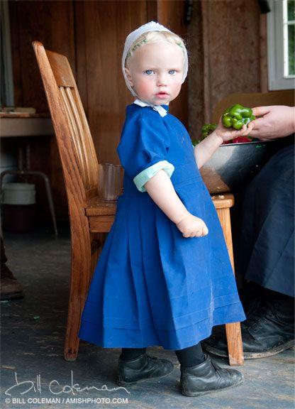Nebraska Amish girl by Bill Coleman