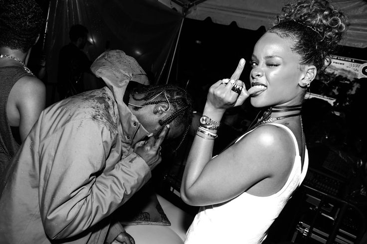Travis Scott and Rihanna at her New York Edition party, September 2015.