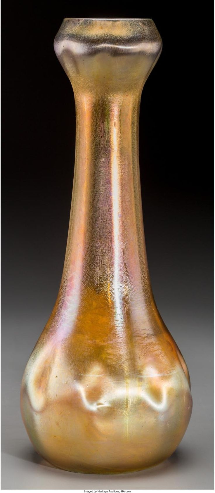 411 best art glass tiffany vases images on pinterest louis a tiffany studios gold favrile glass dimpled vase coro reviewsmspy