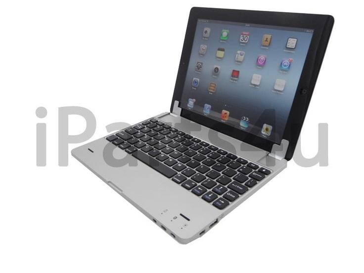 Luxus Alu-Look Bluetooth Tastatur Sharksucker für iPad 2, 3 und 4 mit Batterie iPad Zubehör, iPhone Zubehör und iPod Zubehör || Gut und Billig