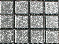 Ook als detail Zilver glitter 25mm mozaiek