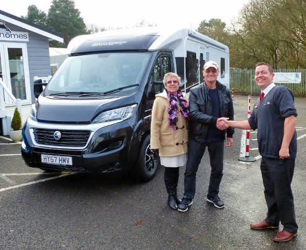 Happy customers collecting their #Motorhome from Viscount #Southampton - we wish you all many wonderful #motorhomememories. #ThankYou #Happytravels #ExploreGB #DiscoverEurope #camping #smiles #travel #holidays #roadtrips #freedom #happycampers #sightseeing #adventuretime #fun