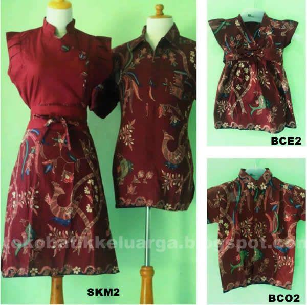 batik sarimbit keluarga dress mama, kemeja papa SKM2 murah di http://tokobatikkeluarga.blogspot.com/