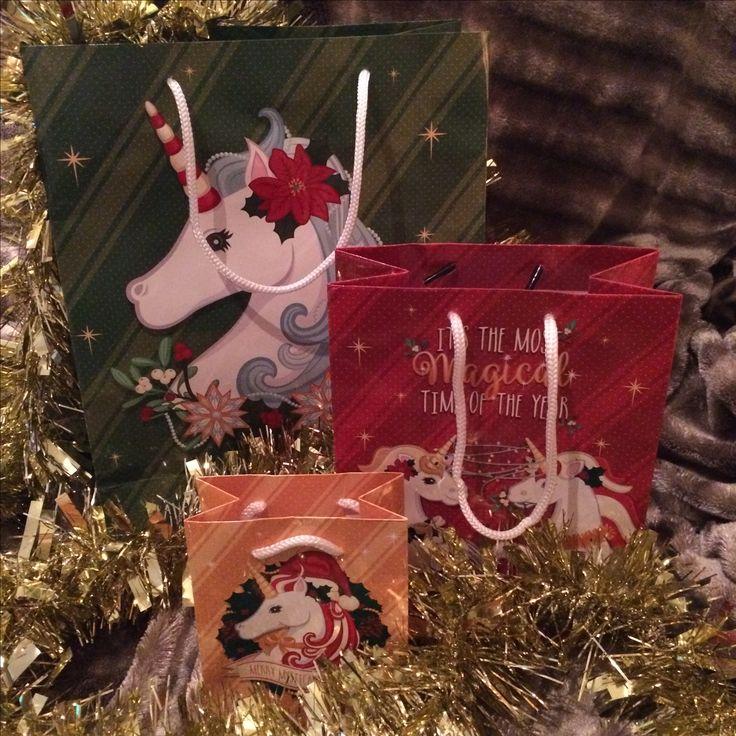 Vánoční dárková taška Jednorožec, design Lauren Billingham #vanoce #unicorn #jednorozec