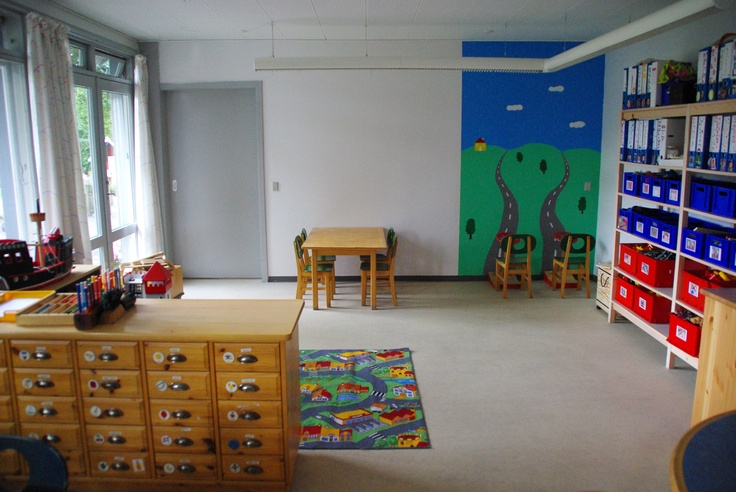 This is one of the rooms in a preschool I designed.