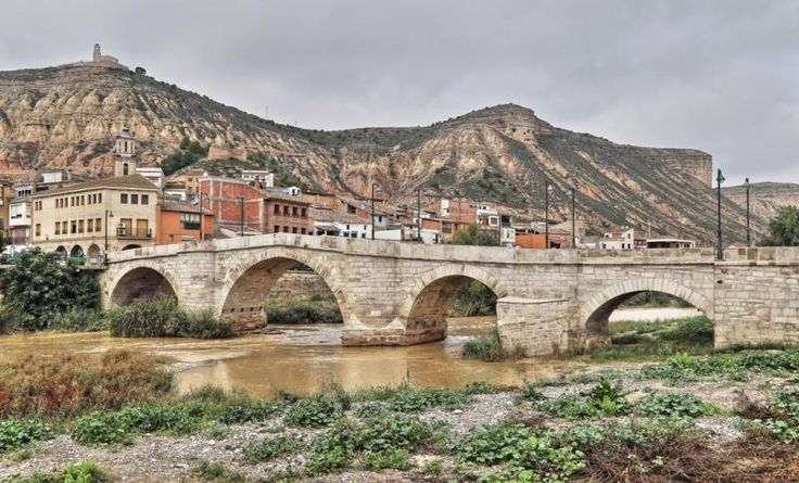 Ballobar, Bajo Cinca, Huesca - Puente Medieval, río Alcanadre
