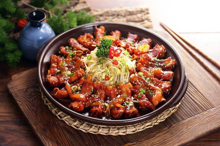 korejské pikantné bravčové rebierka -   Marinovaný Daeji Galba