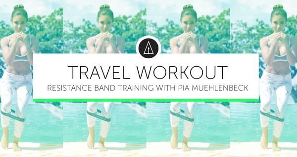 TRAVEL WORKOUT IS THE THIRD IN A SERIES OF VIDEOS FROM PIA MUEHLENBECK USING SLINKII RESISTANCE BANDS IN THE WORKOUT.SLINKII Resistance Bands are ideal for working out at home or on the move. This travel-ready pack allows you to take th...