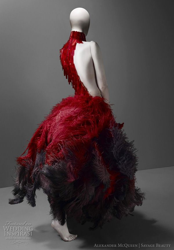971f35d3812 Alexander McQueen Wedding Dress Inspiration from the Savage Beauty  Exhibition — Historical