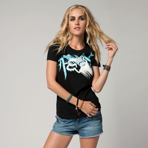 Black, white and blue, Fox t-shirt.