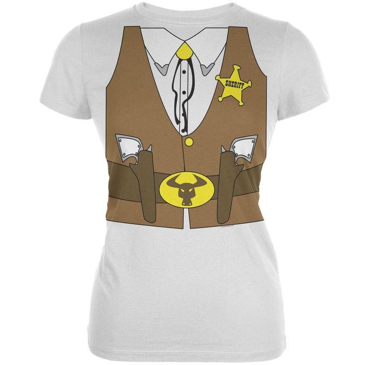 Sheriff Costume Juniors T-Shirt