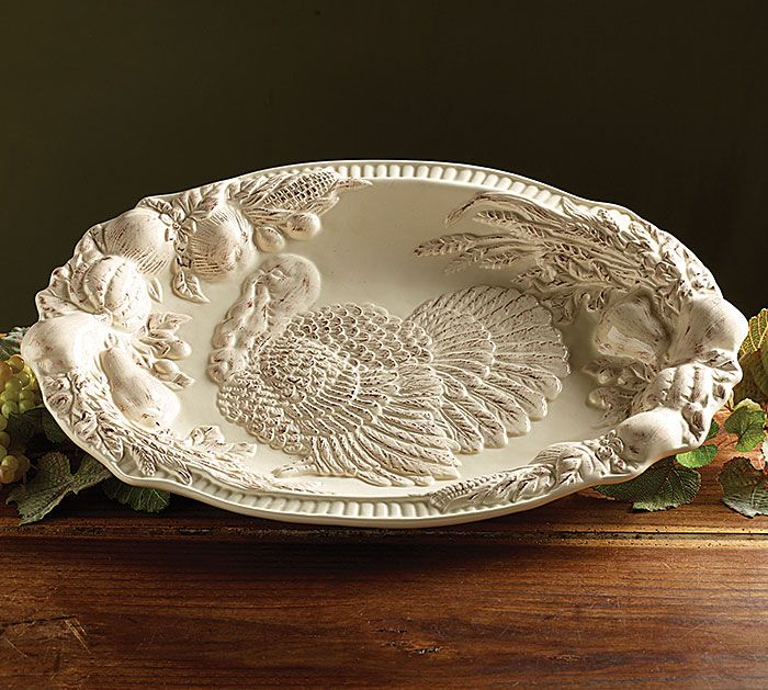 Prepare the Thanksgiving Turkey on our ornate Oval Platter! #burtonandburton