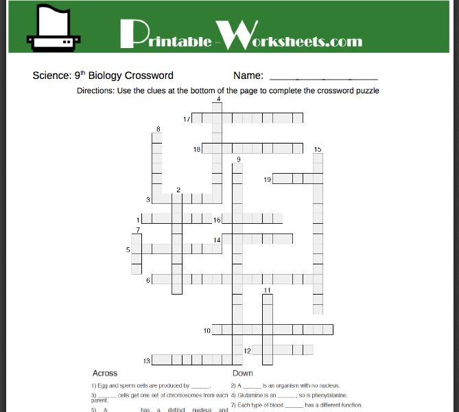 Printables Free 9th Grade Worksheets 1000 images about ninth grade homeschool helps on pinterest free biology worksheets parents can also help students to learn the more advanced concepts and