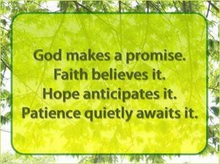 God's promiseInspiration, Quotes, God Promise, Jesus, Hope Anticipation, Patience, Faith Believe, Things, Living