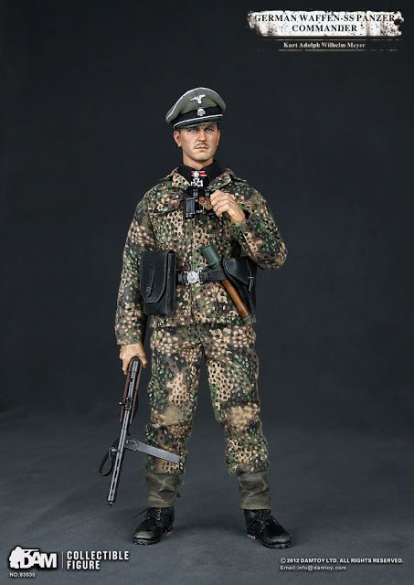 toyhaven: Incoming: DAM 1/6 scale WWII German Waffen-SS Panzer Commander Kurt Adolph Wilhelm Meyer 12-inch military action figure