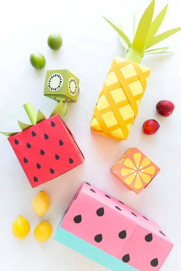 DIY Gift Wrapping Ideas - How To Wrap A Present - Tutorials, Cool Ideas and Instructions | Cute Gift Wrap Ideas for Christmas, Birthdays and Holidays | Tips for Bows and Creative Wrapping Papers |  Fruit Wrapping Paper |  diyjoy.com/...