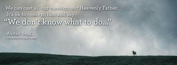 """Alistar Begg: """"Podemos acercarnos con todas nuestras preocupaciones a nuestro Padre Celestial. Podemos decirle: No sé que hacer."""""""