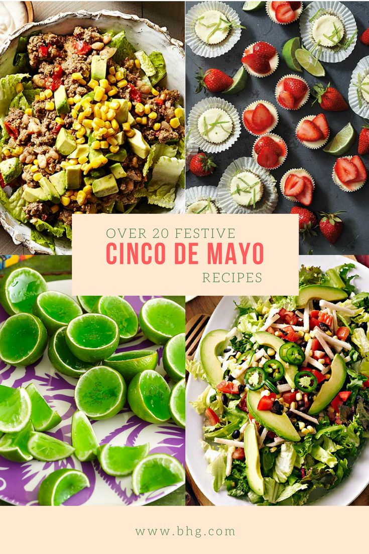 Turn your Cinco De Mayo party into a true Mexican fiesta! With recipes for #tacos, #burritos, #margaritas and more, we've got all the party favorites you need to plan the perfect menu! #cincodemayo