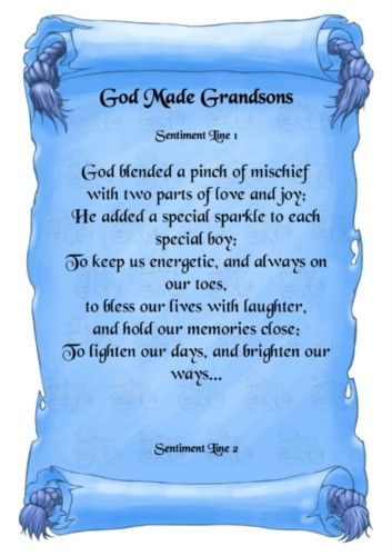 grandma and grandson relationship poems